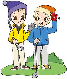 冬のゴルフ3